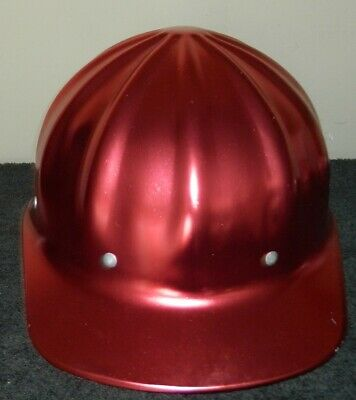 Superlite Fibre Metal Hard Hat Red or Copper Colored New Old Stock