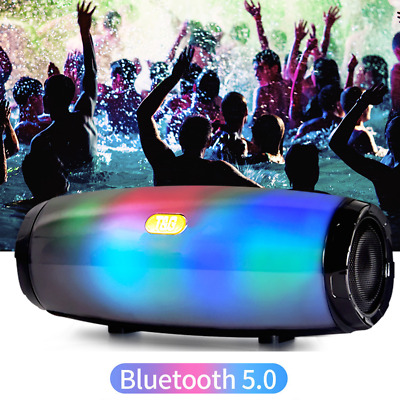 Bluetooth 5.0 Speaker Wireless Stereo Loud Bass Subwoofer LED FM USB TF Boombox