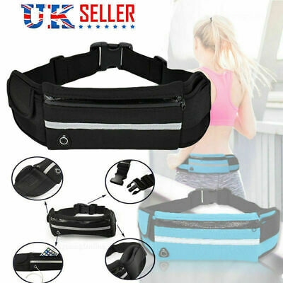 Unisex Running Belt Sport Jogging Key Mobile Money Bum Bag Waist Travel Pouch UK