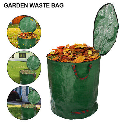 272L Large Heavy Duty Garden Waste Bags Leaves Refuse Sacks With Handles CY