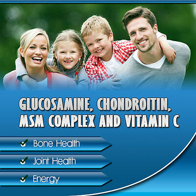 360 x Glucosamine Chondroitin MSM and Vitamin C High Strength Tablets, UK