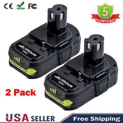 2 Pack 18V Battery  For Ryobi ONE+ PLUS Lithium P102 P105 P103 P104 P106 P108 US