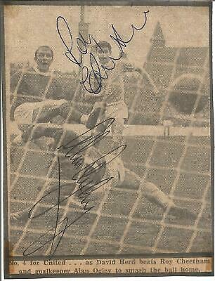 Football Autograph Roy Cheetham & Alan Ogley Manchester City Signed Photo F1469