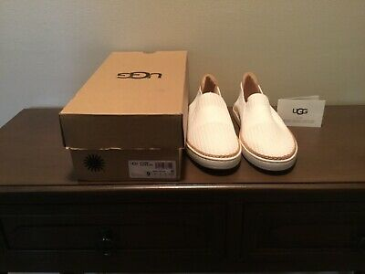 02c78b5d7da UGG JEMMA LEATHER White Fashion Sneaker Shoe Size 11 Us Nib - $76.46 ...
