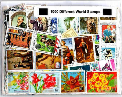 1000pcs Different Used/CTO Great Old Vintage India & World Stamps 80+ Countries