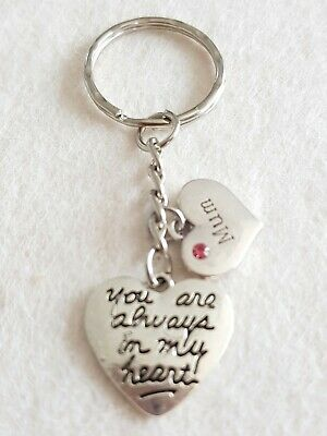 In loving memory keyring keychain always in my heart mum charms pink love keep