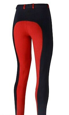 Womens Ladies Girls Jodhpurs Two Tone Jodphur 24'' - 34'' Waist - Navy/Red
