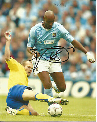 Football Autograph Nicolas Anelka Manchester City Signed Photograph F1492