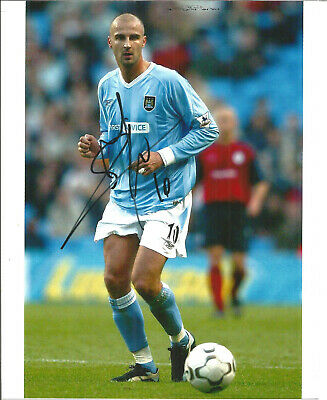 Football Autograph Antoine Sibierski Manchester City Signed Photograph F1493