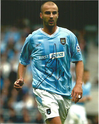 Football Autograph Antoine Sibierski Manchester City Signed Photograph F1494