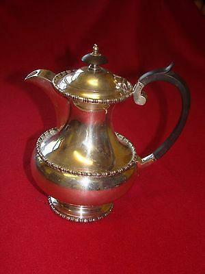 Walker & Hall Sheffield heavy Warranted Silver Plate Tea Coffee Pot