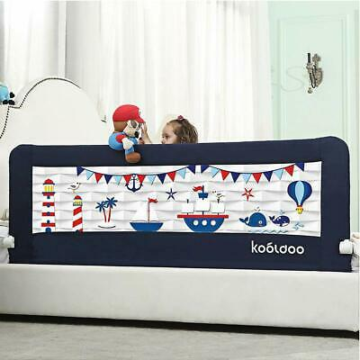 Kooldoo 59 Inches Fold Down Toddlers Bed Rail Safety Baby Bed Guard With Nbr Foa