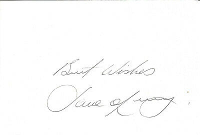 Football Autograph David O'Leary Arsenal Signed Card 16cm x 10.5cm approx F1503