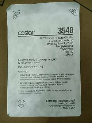 Corning 48 Well Culture Plate Sterile Cell Lid Flat Bottom 10 packs Costar 3548