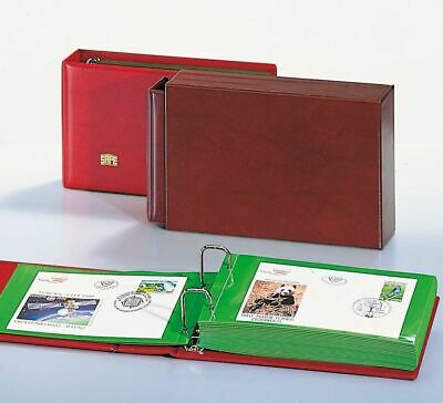 Safe Albums FDC, Letters, Cards Album with 20 Green Or Transparent Double Pages