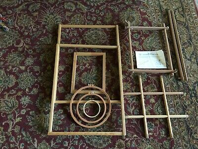 LOT of 8 Needlepoint/Embroidery/Tapestry/Cross-Stitch Wood Work Frames