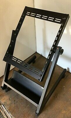 Quiklok RS-658 14U Tilt Rack Stand For Mixer Studio Effects Mount