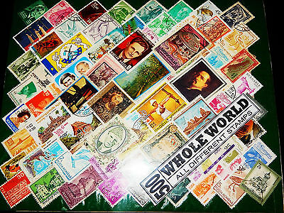 500 Different CTO/MNH/Commemorative India & World Stamps Great Old Vintage Lot