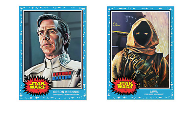 2019 Topps Living #15 Orson Krennic & #16 Jawa A New Hope Star Wars Rogue One PS