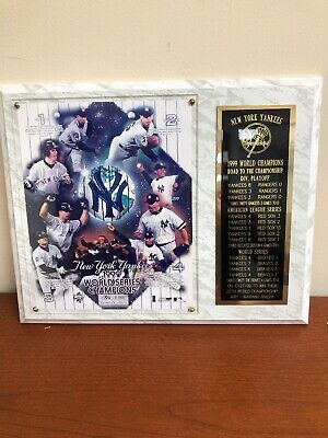 New York Yankees 1999 World Series Limited Edition 1926/5000 Wall Plaque