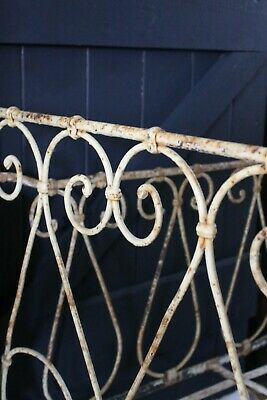 Victorian Day Bed Cast Iron Steel Folding Sides Painted Original Paint C.19th