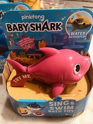 Yellow/pink Or Blue Baby - Robo Alive - Pinkfong Swim & Sing Shark-Made By Zuru