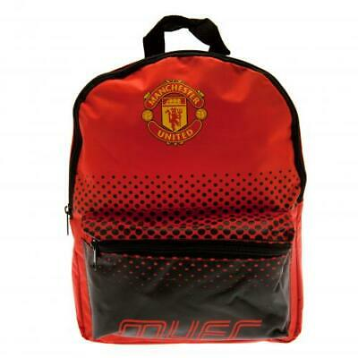 Manchester United FC Official Crested Junior Nylon Backpack School Bag Present