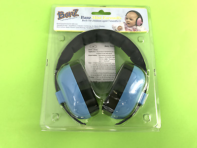 Baby Banz Mini Earmuffs Baby Blue Colors Ages 3 Months + EM009 NEW! #2409