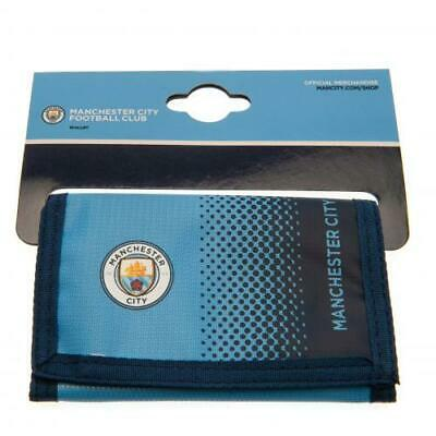 Manchester City FC / Man City Official Crested Nylon Wallet With Multiple Slots