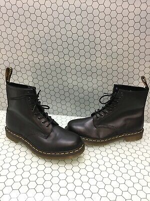 Dr. Martens 1460 Black Leather 8-Eye Lace Up Ankle Boots Mens Size 9  Women's 10