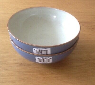 NEW Denby Heritage Fountain Cereal Bowls X 2