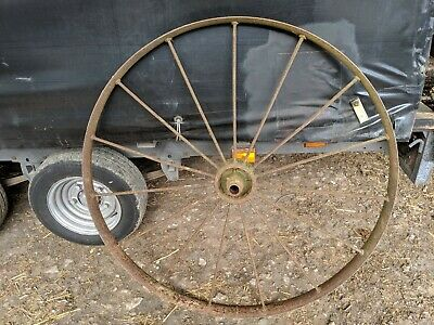 Rusty Cast Iron Wheel Taken Of An Agricultural Implement Garden Decoration