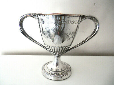 Rare Georgian Old Sheffield Plate Caudle 2 Handled Cup C. 1790-1810