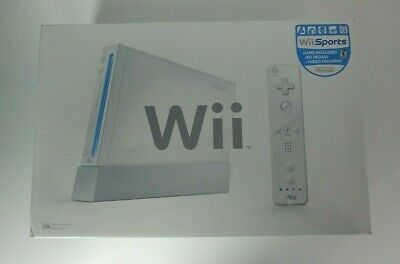 Nintendo Wii White Launch Console Complete System with Wii Sports In Box Tested!