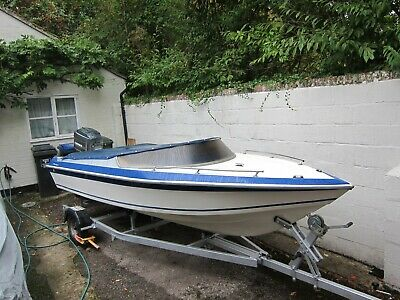 PICTON 159 GTS SPEED BOAT WITH MARINER 75 hp outboard - superb retro project