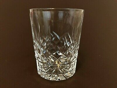 Waterford Lismore Double Old Fashioned Cut Crystal Glass Rock Tumbler 12 oz