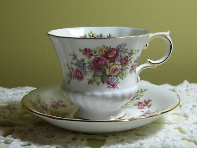Beautiful Paragon England 'Flower Festival' Tea Cup And Saucer