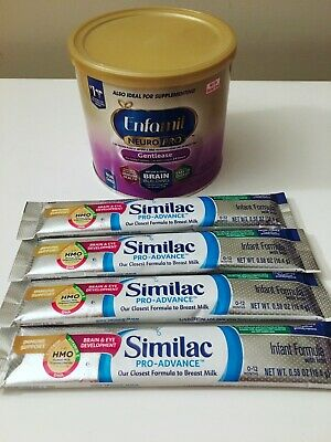 Enfamil Neuropro Gentlease & Similac Pro-Advance Infant Formula Iron Baby Powder