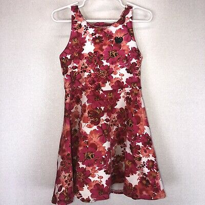 Juicy Couture Girls Pink Floral Summer Dress Size 5 Fit & Flare