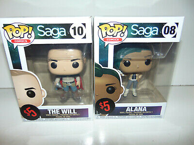 2) Pop! Comics Saga #8/10 The Will & Alana Funko SET LOT Vinyl Figure SEALED **