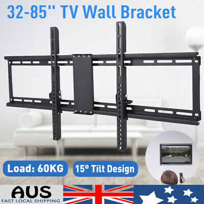 "TV Wall Mount Bracket VESA Tilt Swivel Flat Slim Plasma LCD LED For 32-85"" TV AU"