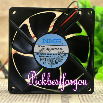 NMB 3110KL-04W-B79 Daul ball cooling fan DC12V 0.38A 80*80*25mm 2pin #Mj01 QL