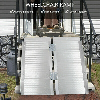Aluminum Wheelchair Ramp Foldable Mobility Scooter Carrier Rack With Handle