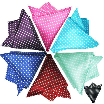 Men's Suit Pocket Square Dots Handkerchief Hanky for Wedding, Party,Any Occasion