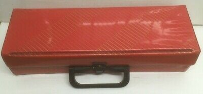 Vintage Retro Cassette Storage Carry Case - Holds 20  Tapes - Red Vinyl Plastic