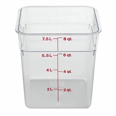 Cambro Polycarbonate Square Container in Clear Design - Keeps Food Fresh - 7.6 L