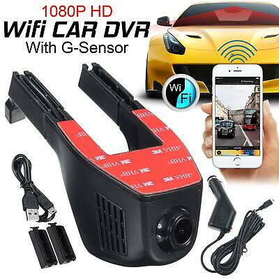 FHD 1080p Wifi Car DVRlens Front Dash Cam Video Recorder G-Sensor Night vision