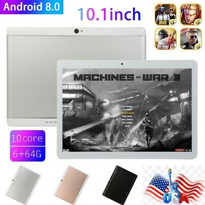 """10.1"""" Tablet PC 6G+64G 10 Core Android 8.1 Dual SIM&Camera Wifi Phone Phablet US"""