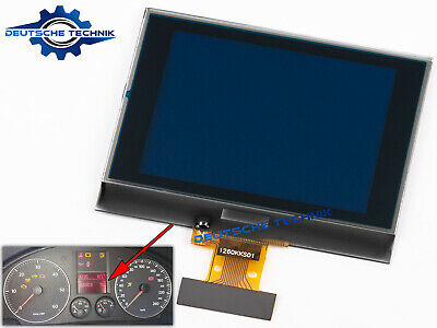 Lcd Display With  Ribbon Calbe For Vw Jetta Caddy Skoda Seat Instrument Cluster