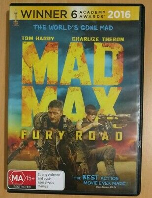 Mad Max - Fury Road DVD AUS Edition PAL4 Used Good Condition